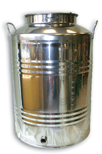 STAINLESS STEEL JUG with screw cap, 100 lt