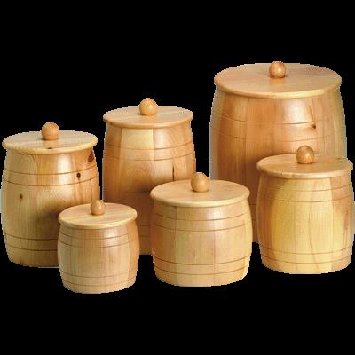 Grain-/Flour- wooden jar, 5kg