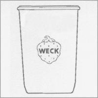 Weck Einkochglas Sturzform 750 ml, 6 Stk. Pkg 743