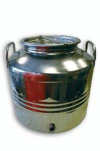 EDELSTAHLKANNE Schnaps, Öl ,m. Kugelhahn, 15 lt