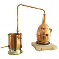 Mini-Destiller Nr. 4 Bonsai aus Kupfer mit Wasserbad, 2Liter, elektrisch beheizt