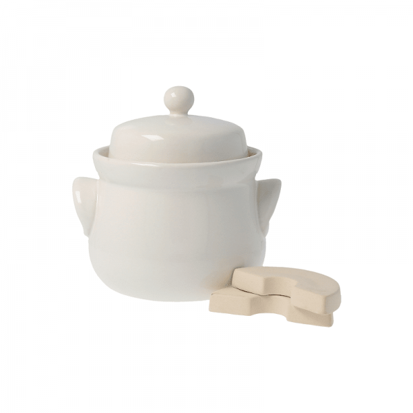 FERMENTING POT Mini ceramic cream 3 L