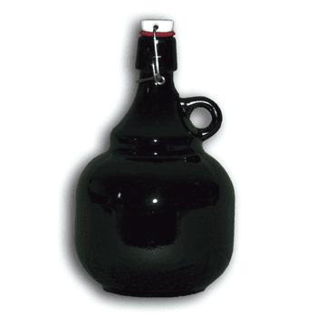 Bierflasche mit Bügelverschluß, bauchig, 2 lt