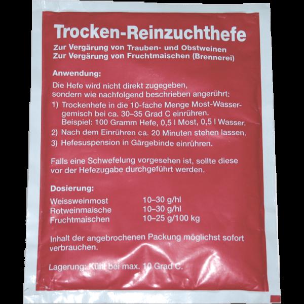 TROCKENREINZUCHTHEFE GWS 103, rot, 20g