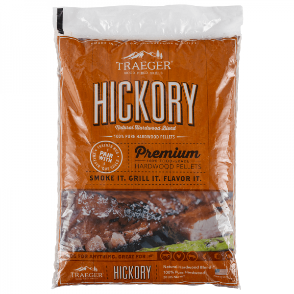 TRAEGER SMOKER PELLETGRILL HICKORY PELLETS, 9kg