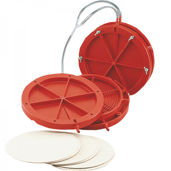 Circular Bed Filter red, 22 cm (incl. 3 inserts)