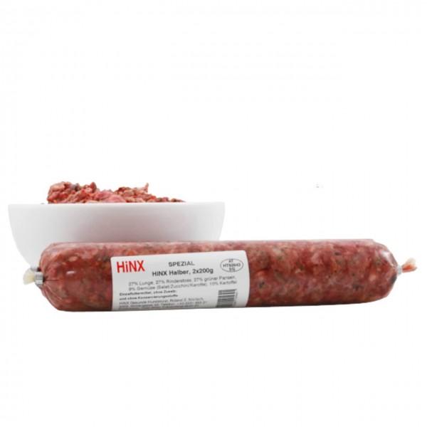 BARF HiNX Komplettmahlzeit HiNX Spezial Halber, 2 x 200g