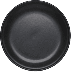 "Fondue Plate ""Tradition"", 21 cm, plain, black"