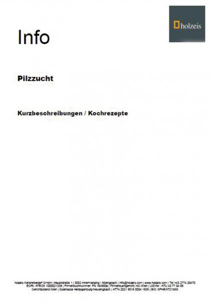 Pilzanbau-Booklet SHIITAKE Fertigkultur