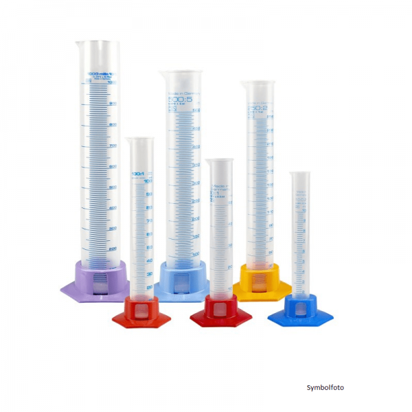 Measuring Cylinder Plastics, 200ml without grad.