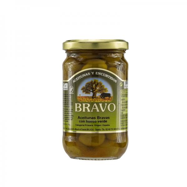 Oliven Bravo Aceitunas Bravas o. Kern, 170g Glas