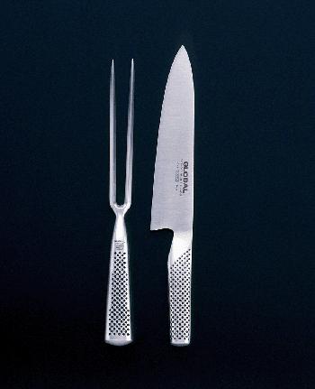 Global G-224 Knife/Meat Fork Set, 2 pieces