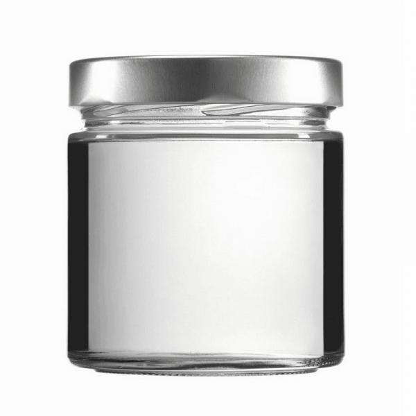 Konservenglas - Factum 410 ml mit Deckel silber