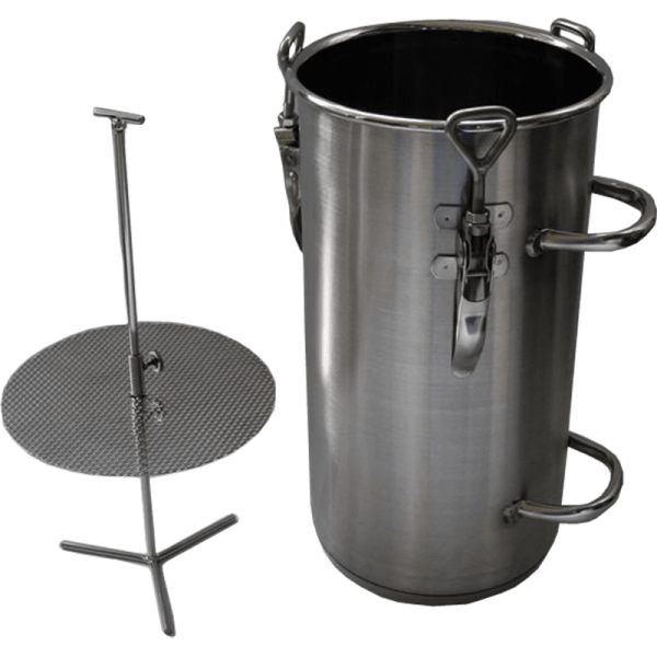Stainless steel herb pot with insert 10 l