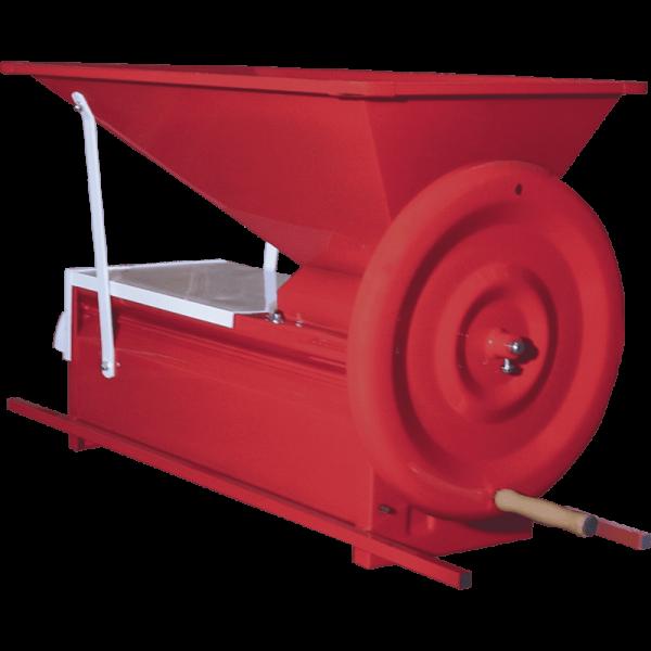 Abbeermaschine handbetrieben rot,f. Trauben