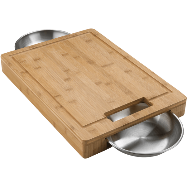 NAPOLEON PRO Cutting Board & Stainless Steel Bowls