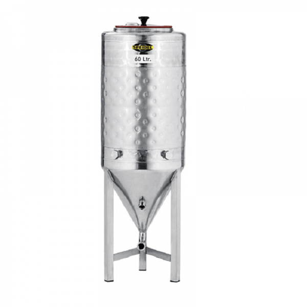 60-litre conical stainless steel fermentation tank