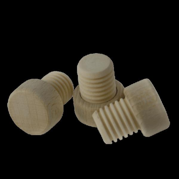 CORK PLASTIC ribbed wooden handle18mm, 100 pcs.