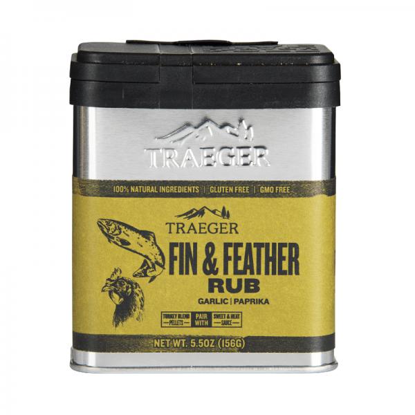 TRAEGER SMOKER PELLETGRILL FIN & FEATHER RUB, 170g
