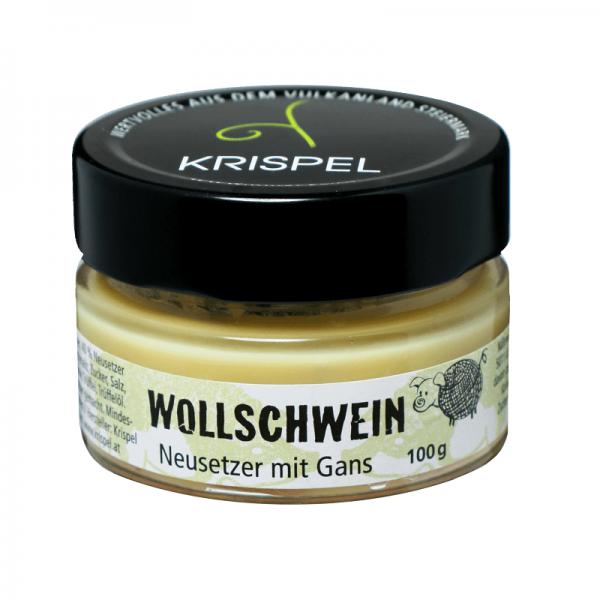 Krispel Wollschwein Neusetzer mit Gans, 100g