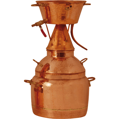 Destiller Alquitara nach Leonardo da Vinci für ätherische Öle 100 l