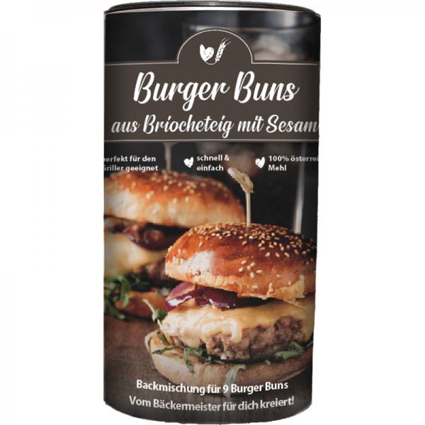 BACKMISCHUNG BURGER BUNS mit Sesam