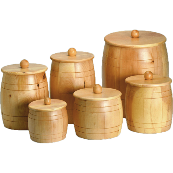 Grain-/Flour- wooden jar, 350g