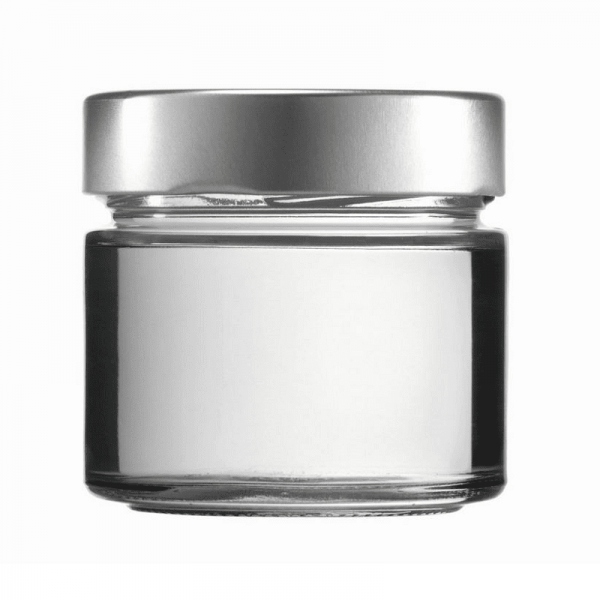 CONSERVATOR GLASS - FACTUM 212 ml with lid silver