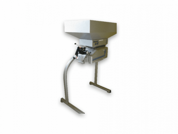 Malt mill with additional funnel and portal stand