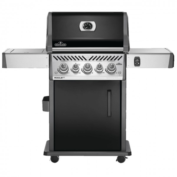 NAPOLEON ROGUE® SE 425 with cast iron grates, black, incl. rotating spit