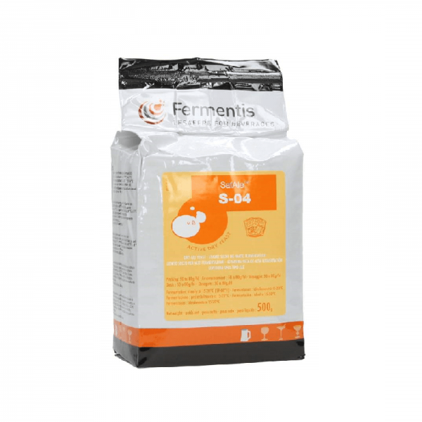 Beer Yeast SAFALE S-04, top-fermenting 500 g