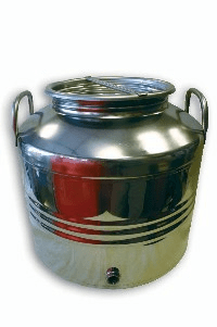 Edelstahlkanne Schnaps, Öl ,m. Kugelhahn, 10 lt