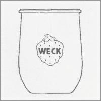 Weck Einkochglas Tulpenform 1000ml, 6 Stk. Pkg 745
