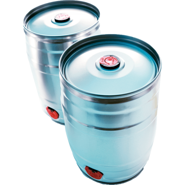 PARTY KEG 5lt, silver with tap