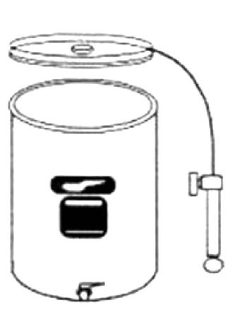 Immervollbehälter Edelst.,100 l, Luftdeckel