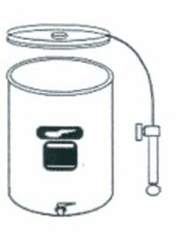 Immervollbehälter Edelst., 65 l, Luftdeckel