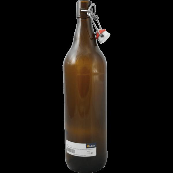 Bierflasche mit Porzellanbügelverschluß, 1 lt