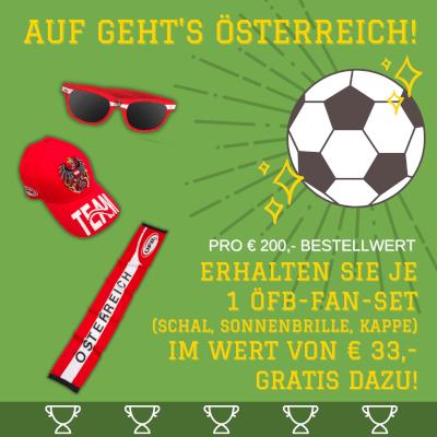 Original ÖFB-FAN-SET - Schal, Sonnenbrille (UV 4), Kappe