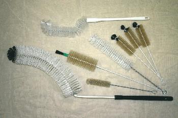 Ballonreinigungsbürste mit Holzstiel