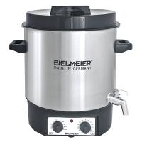 """Bielmeier Einkochautomat, Auslaufhahn 1/2"""", Edelstahl/ 27 Liter/1800 W"""