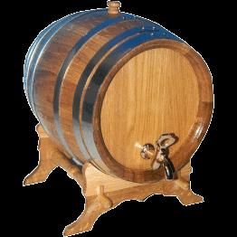 Oak barrel round, 50 l, only barrel raw