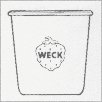 Weck Einkochglas Sturzform 500 ml, 6 Stk. Pkg 742