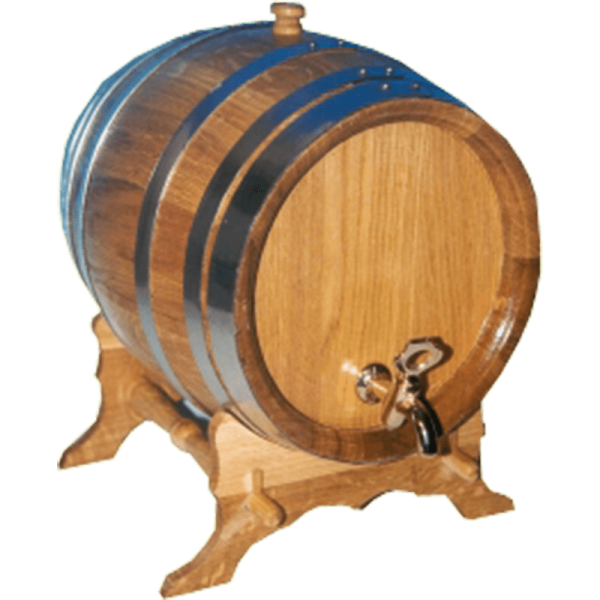 Oak barrel round, 30 liters, only barrel raw