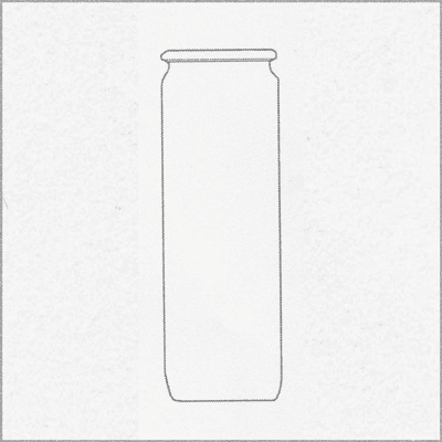 WECK INDOOR GLASS cylindrical shape, 1000 ml, 6 pcs. 908