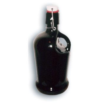 BIERFLASCHE mit Bügelverschluß, Henkel, 1 lt