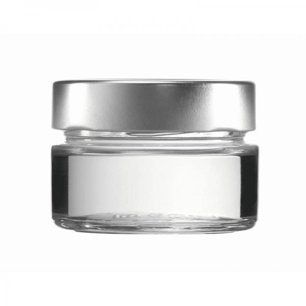 FACTUM-MARMELADE-PASTETE-PESTO-GLAS 106 ml, silber