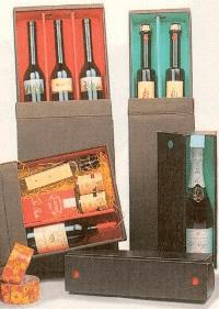 Geschenkbox Karton für 1 Flasche, schwarz