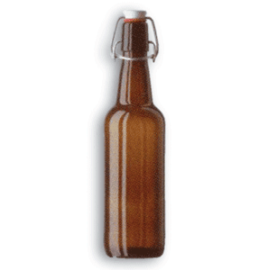 Box of Beer Bottle w. Flip-top Closure, China Cap