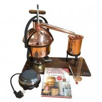 Mini Destiller Starter Set für Schnaps, Gin und Geist inkl. Elektro Kochplatte