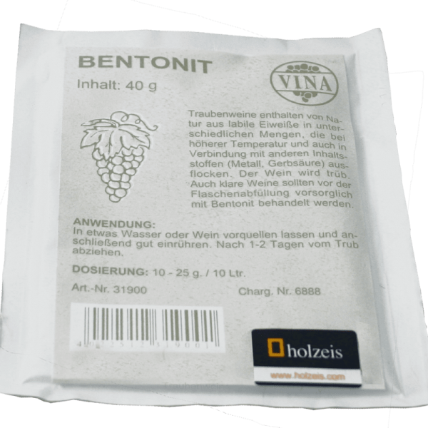 Bentonit 40 g for 40-50 l Wine